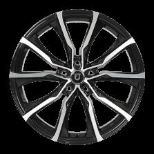 【前后配 4只套装】丰途/FT506 19寸 低压铸造 孔距5X120 黑色车亮 前轮8.5J  后轮9.5J 宝马3/5系/宝马7系/宝马X1/宝马X3
