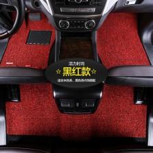 乔氏 思哥达系列 耐磨耐脏地毯式丝圈专车专用五座汽车脚垫 14mm厚度【黑红色】