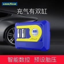 固特异/Goodyear 车载充气泵便携双缸 胎压预设数显测压 汽车轮胎打气泵GY-2582