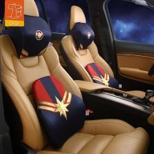 GiGi漫威Marvel汽车头枕腰靠复仇者联盟4卡通记忆棉护颈枕护腰垫 惊奇队长 套装