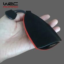WRC 简约款钥匙包 黑皮油红边