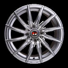 【买3送1 四只套装】丰途/华固HG2166 15寸 低压铸造轮毂 孔距4X100 ET35电镀银