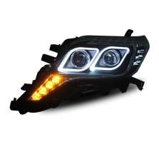 【免费安装】龙鼎适用于新霸道大灯总成 普拉多改装透镜LED天使眼日行灯氙气