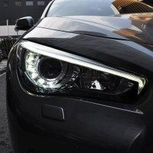 【免费安装】龙鼎适用于英菲尼迪Q50L大灯总成14-19年改装led高配日行灯Q50透镜大灯