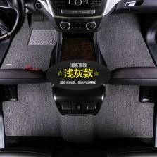 乔氏 思哥达系列 耐磨耐脏地毯式丝圈专车专用五座汽车脚垫 14mm厚度【浅灰】