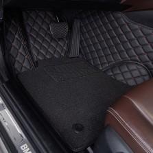 洛奇 专车专用全包围丝圈双层汽车脚垫【黑色五座】