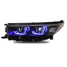 【免费安装】龙鼎适用于新汉兰达LED大灯总成18-19款改装一抹蓝日行灯流光转向灯