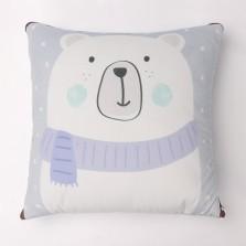 【途虎旷虎联合定制】水晶绒车家两用抱枕被 白熊款