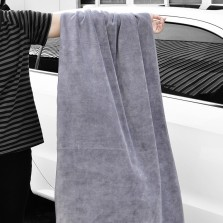 悦卡 洗车毛巾磨绒纤维加厚大号吸水擦车毛巾车居两用【160*60cm灰色】