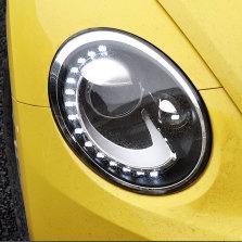 【免费安装】龙鼎适用于甲壳虫大灯总成13-19年改装泪眼款led日行灯透镜