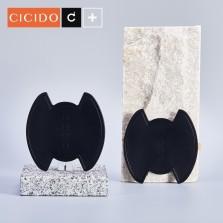 CICIDO高级汽车门碗贴硅胶车门把手贴防刮划痕拉手门腕保护膜贴纸【黑色】