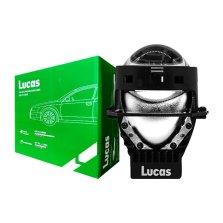 【免费安装】 卢卡斯(LUCAS) LED大灯改装升级套装 汽车前大灯 高亮聚光 远近一体LED双光透镜 一对装 LLLC-A001【采埃孚旗下品牌】