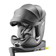 Babyfirst宝贝第一灵悦安全座椅0-7岁宝宝360°旋转 欧标i-Size 带遮阳棚【智能版 灰色】
