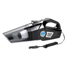途虎定制 车用家用小型车载大功率吸尘器 充气泵照明胎压数显多功能四合一 有线数显款