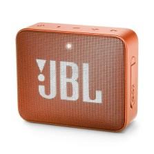 JBL GO2音乐金砖无线4.2蓝牙音箱 IPX7防水溅户外口袋便携车载低音炮 充电迷你语音免提通话小音响【GO2 珊瑚橙】