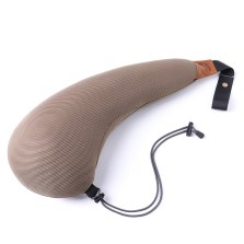旷虎 便携 汽车护颈头枕 靠枕 抱枕 舒适 车用固定安全防护睡眠神器(卡其色)