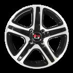 【四只套装】丰途/华固HG2563 15寸 低压铸造轮毂 孔距4X100 ET38黑色车亮