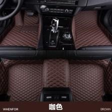 文丰 WF-JD13 水波纹单层皮革全包专车专用五座脚垫【咖色】【多色可选】