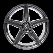 【四只套装】丰途/FT502 19寸低压铸造轮毂 孔距5X120 ET30亮铁灰全涂装