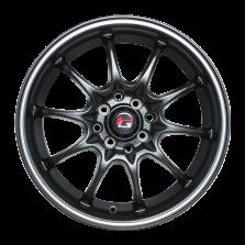 丰途/华固HG2161 16寸 低压铸造轮毂 孔距4X100/4X114.3 ET40亚黑亮边