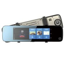 惠普/HP S760 智能YunOS 3G版智能后视镜行车记录仪 双镜头高清夜视倒车影像 标配