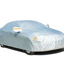 逸卡 铝箔加厚PEVA棉全罩车衣车罩升级款(七大功能 带防盗锁、侧门拉链)