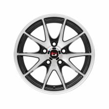 丰途/华固HG2562 14寸 低压铸造轮毂 孔距5X100 ET35黑色车亮