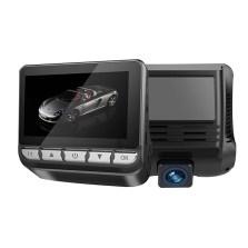 凌度 DT198 隐藏式无线行车记录仪双镜头电子狗流动测速高清夜视一体