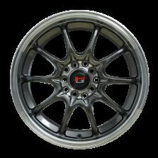 丰途/华固HG2161 16寸 低压铸造轮毂 孔距5X100/5X112 ET40枪灰色+车边+车中心盘+灰色透明漆