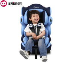 路途乐 汽车儿童安全座椅 isofix软接口9个月-12岁路路熊A 升级版【深海蓝】