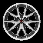 【四只套装】丰途/华固HG2562 14寸 低压铸造轮毂 孔距4X100 ET35黑色车亮