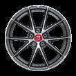 【四只套装】丰途/FR553 19寸 旋压铸造轮毂 孔距5X112 ET28亮铁灰车亮