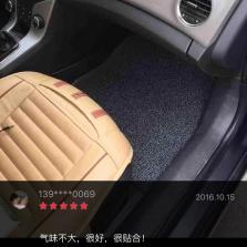轩利  五座专车专用丝圈约17mm厚度汽车脚垫【红黑】