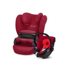 CYBEX Pallas B【活力红】+ Aton提篮【伦巴红】 0-12岁超长年龄段高性价比安全座椅组合