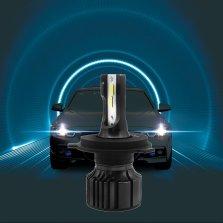 暴享 汽车LED大灯 H4 6000k 一对装 白光 远近一体【精光系列】