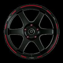 【新品 买3送1 四只套装】丰途/FT601 18寸 低压铸造轮毂 孔距5X114.3 ET38亚黑红边刻字限量版