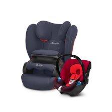 CYBEX Pallas B【海湾蓝】+ Aton提篮【伦巴红】 0-12岁超长年龄段高性价比安全座椅组合