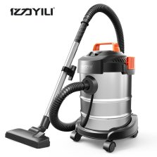 亿力/YILI 家商两用 干湿吹三用吸尘器 12L/1200W【金属桶+1.5米管+地刷】