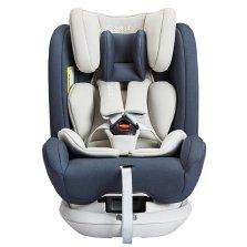 瑞贝乐/REEBABY儿童安全座椅汽车用 0-12岁360度旋转 全注塑isofix硬接口 s62【星河灰】