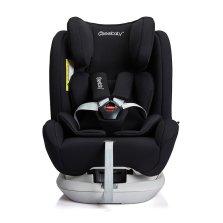 瑞贝乐/REEBABY儿童安全座椅汽车用 0-12岁360度旋转 全注塑isofix硬接口 s62【曜夜黑】